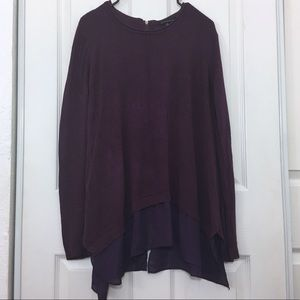 Staccato flowy 100% viscose purple sweater tunic
